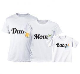 Set tricouri Familie - Biberon pentru Bebe