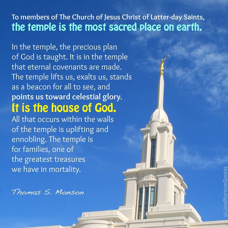 """""""In the temple http://facebook.com/163927770338391, the precious plan of God is taught [and] eternal covenants are made. The temple lifts us, exalts us, stands as a beacon for all to see, and points us toward celestial glory. It is the house of God. All that occurs within the walls of the temple is uplifting and ennobling."""" From President Monson's http://pinterest.com/pin/24066179228814793 inspiring message http://lds.org/ensign/2010/10/blessings-of-the-temple"""