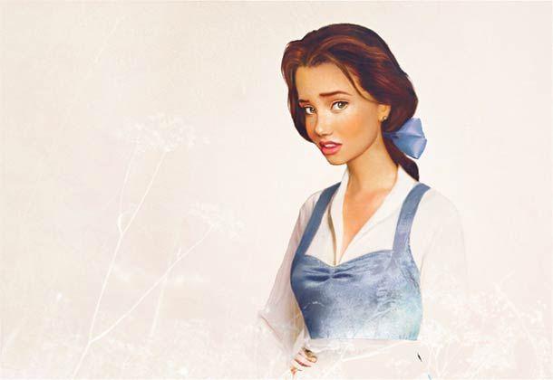 Belle (real life disney princesses by graphic designer Jirka Väätäinen)