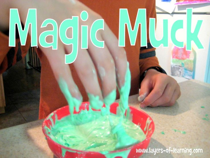 Magic Muck recipe and explanation of non-Newtonian fluids