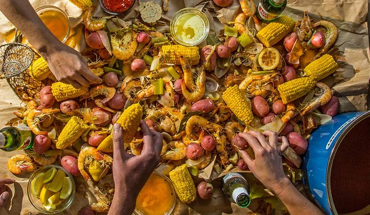 Throw a party with our shrimp boil recipe fileld with head-on shirmp, potatoes, corn and a lot of heat.