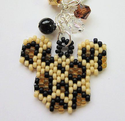 Animal Kingdom Safari Mickey Mouse Ears Inspired Leopard Print Beaded Purse Charm Key Chain