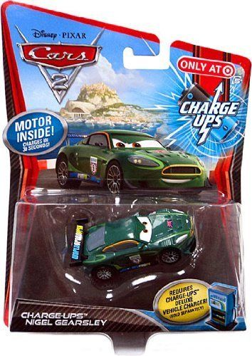 Disney / Pixar CARS 2 Movie 155 Exclusive Charge Ups Car Nigel Gearsley by Mattel. $23.95. Motor inside! Charges in 30 seconds!bRequires ChargeUps Deluxe Vehicle Charger (sold separately!)/b