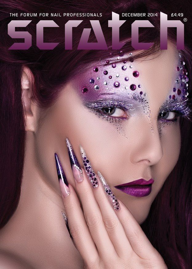 Scratch magazin cover December 2014 by Tevra Shindler (Crystal Nails UK) #scratch #nails #crystalnails #cover #magazin #beauty