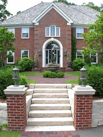 how to build brick pillars for driveway gates