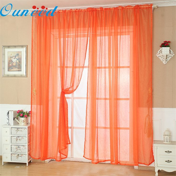Zero Solid Color Tulle Door Window Curtain Drape Panel Sheer Scarf Valance #Affiliate