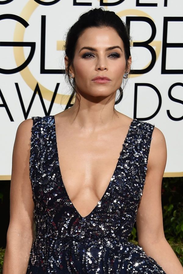 The Best Beauty Looks From The Golden Globes #refinery29  http://www.refinery29.com/2016/01/100905/golden-globes-2016-best-hair-makeup#slide-24  Jenna Dewan Tatum took a note from the American Music Awards' biggest trend and matched her eye makeup to her dress, thanks to makeup artist Patrick Ta working for Burt's Bees. ...