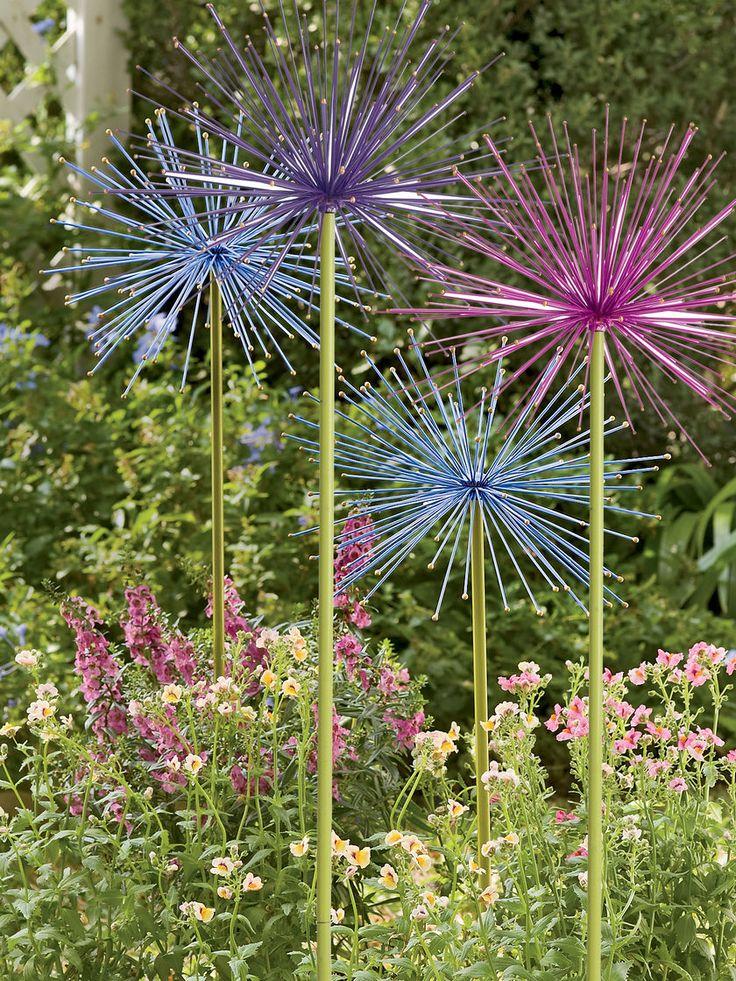 Large Metal Flowers Everlasting Alliums Gardener's
