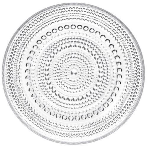 Iittala Kastehelmi Small Plate, Clear by iittala, Inc. $20.00. Decorative bowl by Iittala. Measures 6-3/4 by 6-3/4 by 3/4-inches. Decorative plate by iittala. Made of glass and decorated with beads of glass. Design by Oiva Toikka - one of the most renowned names in Finnish glass art. Dishwasher safe. The Kastehelmi 6-3/4-inch plate has a versatile design allowing it to be used in casual and formal settings. Designed by Professor Oiva Toikka. Kastehelmi - which is Finni...