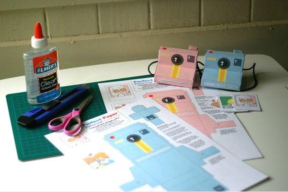 Printable Polaroid cameras!