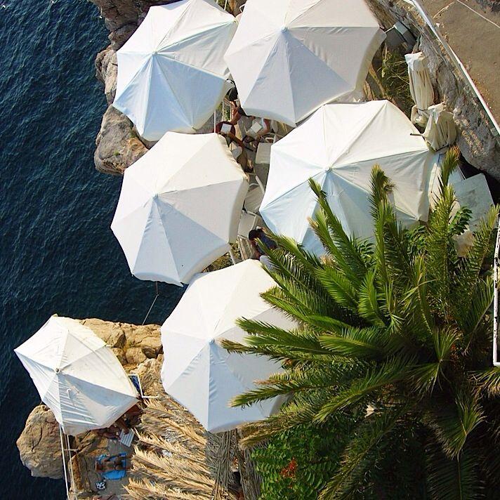 Beach bar in Dubrovnik, Croatia