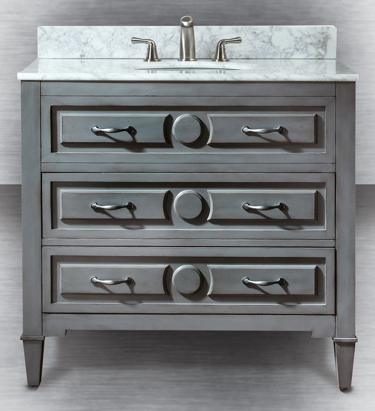 Gray blue a hot trend in bathroom vanities this season - Menards bathroom vanities 48 inches ...