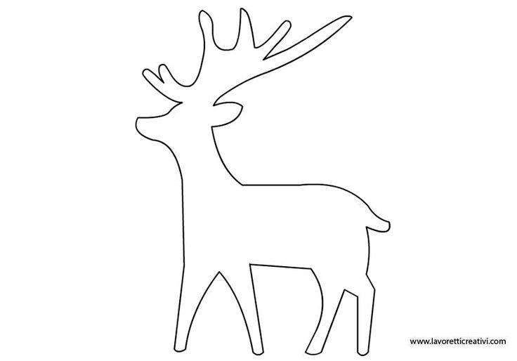 Natale   Sagome renna in natale