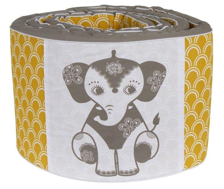 Økologisk Sengerand med elefant – Soulmate fra RoomMate. Tinga Tango Designbutik