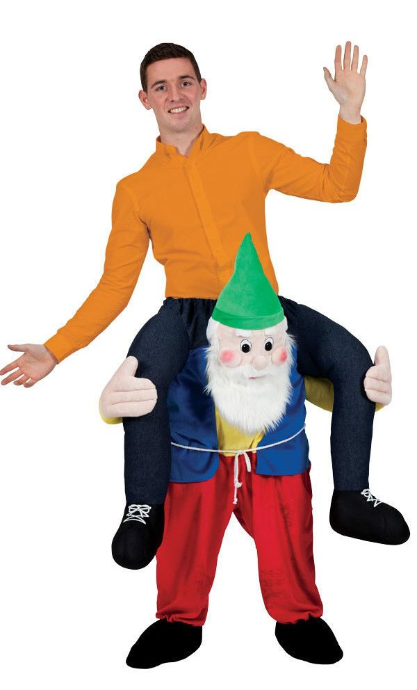 Gnome In Garden: Details About Carry Me Ride On Gnome Dwarf Mascot Fancy