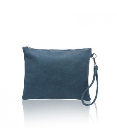 The Maia Light Blue is Nella Bella's carry-all pouch that is perfect for less-is-more wardrobes and events. Large zippered top, lined interior with zippered inside pocket, this little pouch also comes with a removable wristlet.