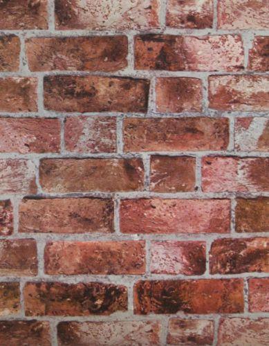 3-D Effect Embossed Red Brick HE1044 Wallpaper – D. Marie Interiors