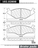 Brand:Centric Part Number:102.02800 Category:Brake Pad  Price :$11.63 2 Years Warranty