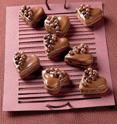 Plnené čokoládové srdiečka | Recepty.sk