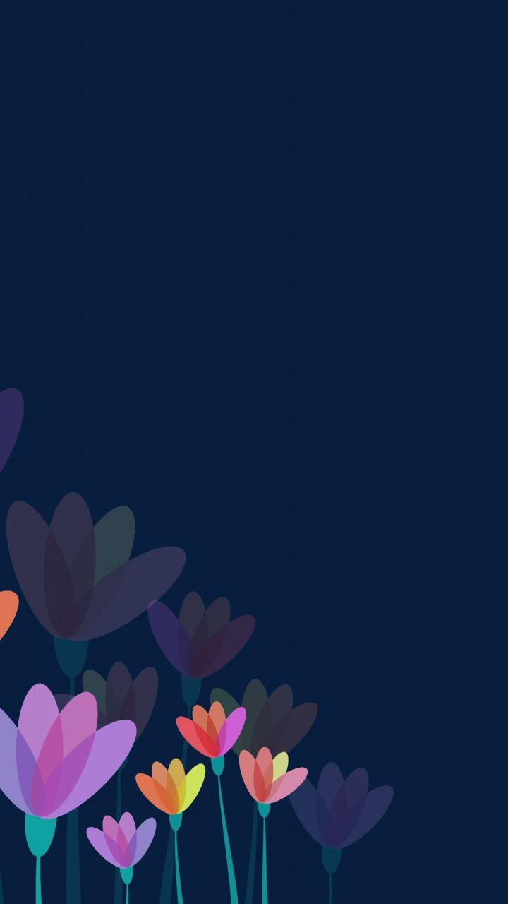 Downaload Flowers Minimal Digital Art Wallpaper For Screen 720x1280 Samsung Galaxy Mini S3 S5 Neo Floral Wallpaper Iphone Art Wallpaper Floral Wallpaper