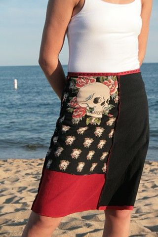 Love these skirts made from used t shirts