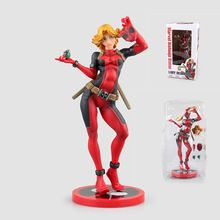 Anime Figurine Marvel Lady Deadpool X Men Bishoujo Statue PVC Action Figure Model Toy 23.5cm