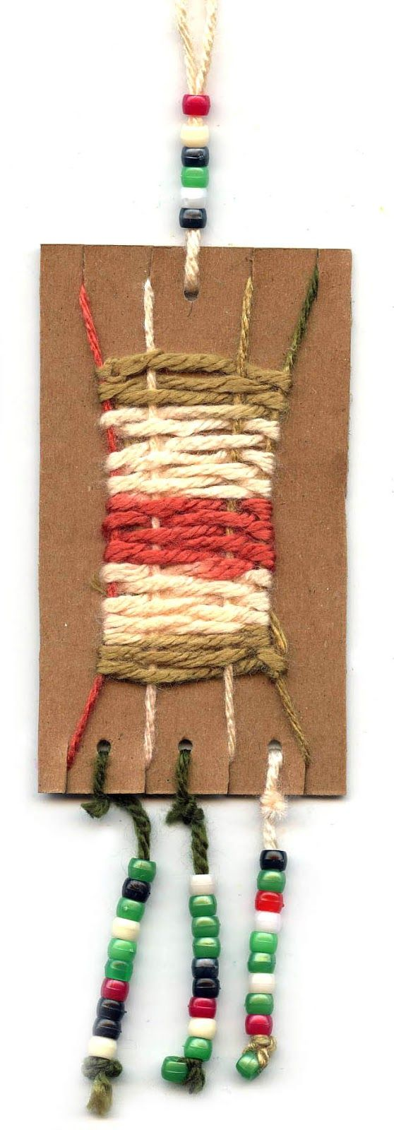Art Projects for Kids: Cardboard Weaving Necklace - seeing this with sheet metal and wire....