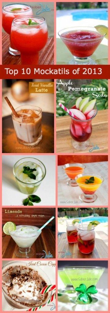 Top 10 Mocktails of 2013 - Drink Recipes from SoberJulie - Sober Julie