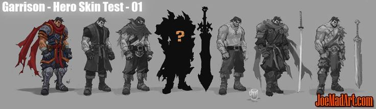 Battle Chasers Nightwar alternate Garrison skins concept art - Joe Madureira…