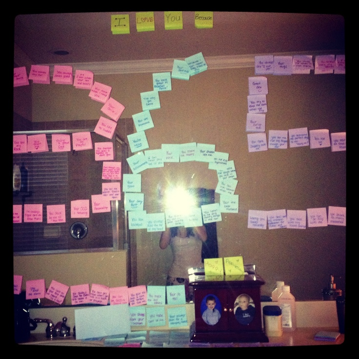 Happy First Anniversary idea. I love you because...