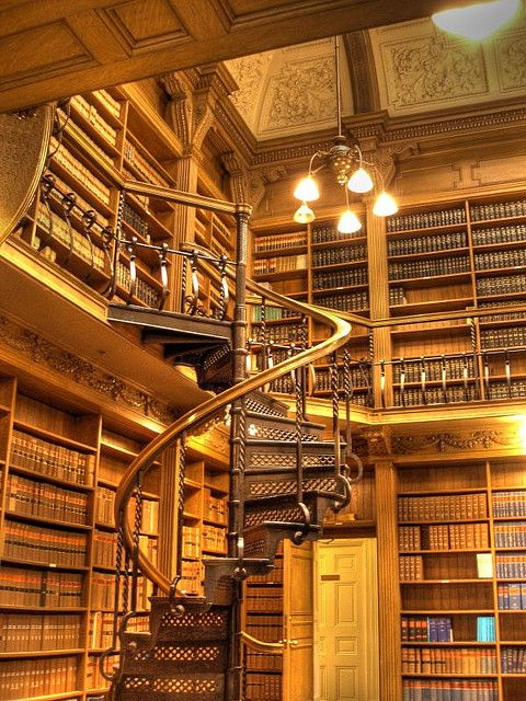 Spiral stairs and books = heaven