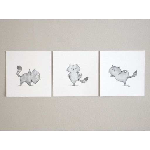 3-pack Yogacat Miniprints