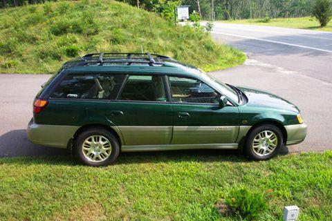 2000 Subaru Outback- Robin's car.