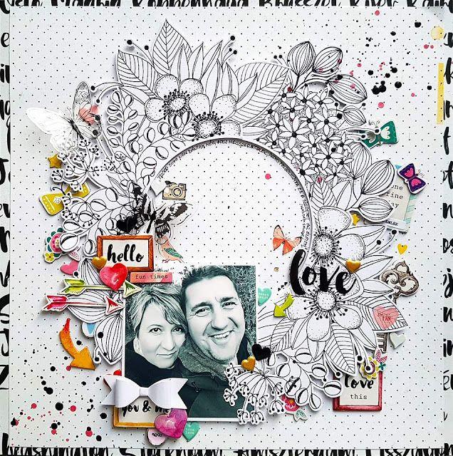 Anett's rajzolt koszorú vágófájl - FREEBIE wreath cufile!