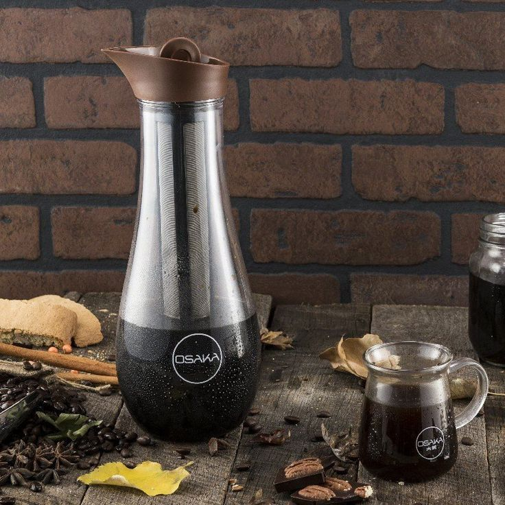 Brown 1.5 Liter Tritan Cold Brew Coffee Maker by Osaka