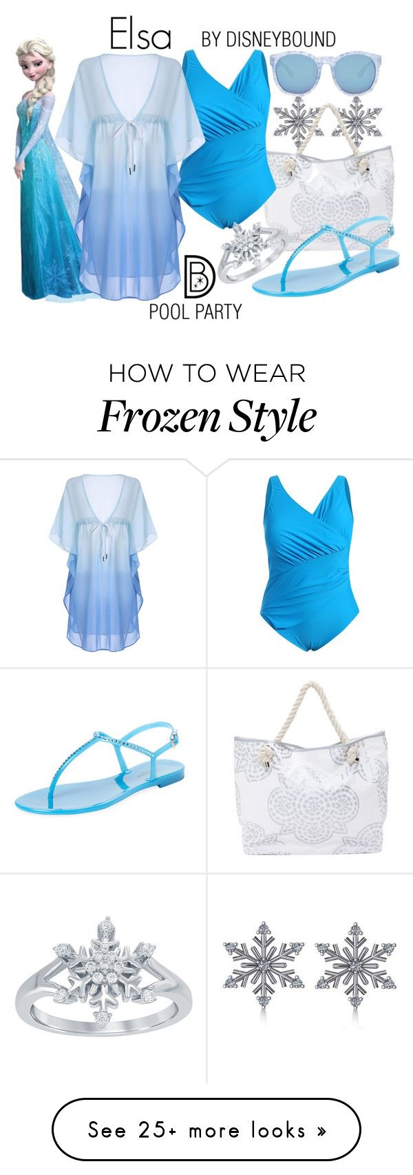 """Elsa"" by leslieakay on Polyvore featuring Allurez, L.K.Bennett, Forever 21, Disney, disney, disneybound and disneycharacter"