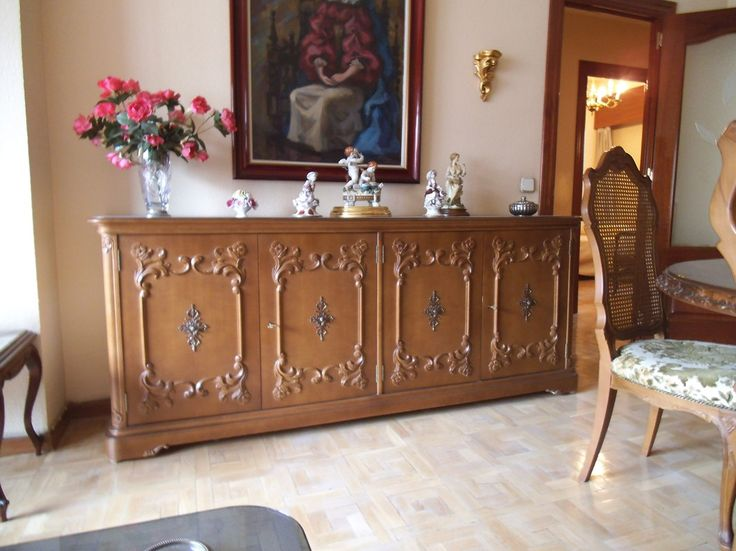 aparador grande de madera maciza de segunda mano en madrid muebles de segunda mano