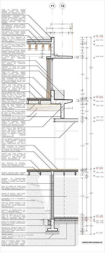 M s de 25 ideas incre bles sobre detalles constructivos en pinterest escantillon pasamanos de - Detalle constructivo techo ...