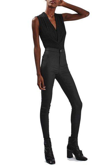 Topshop Drape Neck Bodysuit available at #Nordstrom