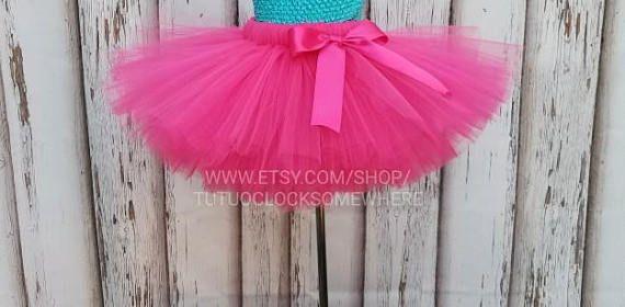 Customizable Fuchsia Tutu Skirt Hot Pink Tutu Pink Plus Size