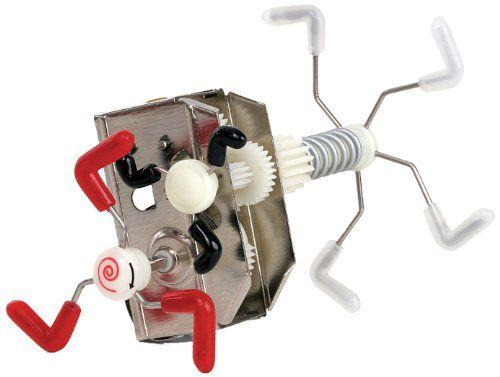 Skidum Mechanical Wind up Kids Toy Robot Gear Box