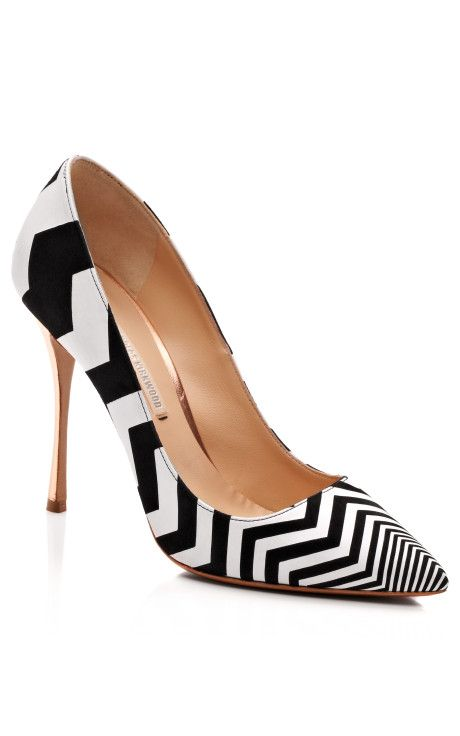 Black And White Zig Zag Pump by Nicholas Kirkwood for Preorder on Moda Operandi..........if they only didnt cost 750......