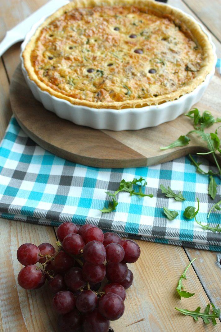 Francesca kookt met Foodelicious_quiche met rucola_oude kaas_druiven_3