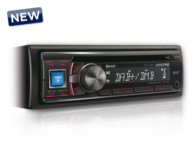 Alpine CDE-136BT - CD/DAB RECEIVER WITH ADVANCED BLUETOOTH - (on its way)