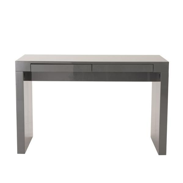 Office Desks - Euro Style Donald Desk in Gray with Two Drawers | EURO-34038GRY | 727511921548| $466.00. Buy it today at www.contemporaryfurniturewarehouse.com
