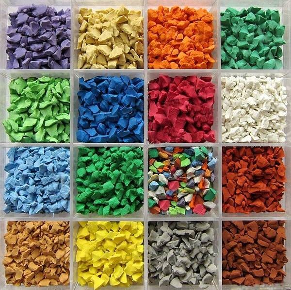 Мульча цветная, варианты окраски