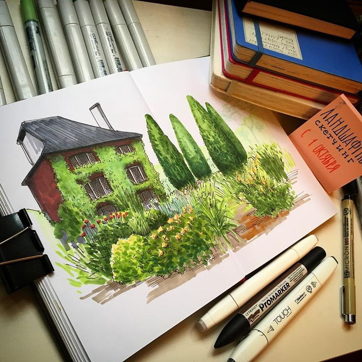 Noakes Garden sketchbook