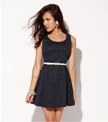 black mesh dress with white belt