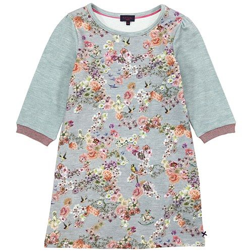 P.S. Grey Marl Flower Dress