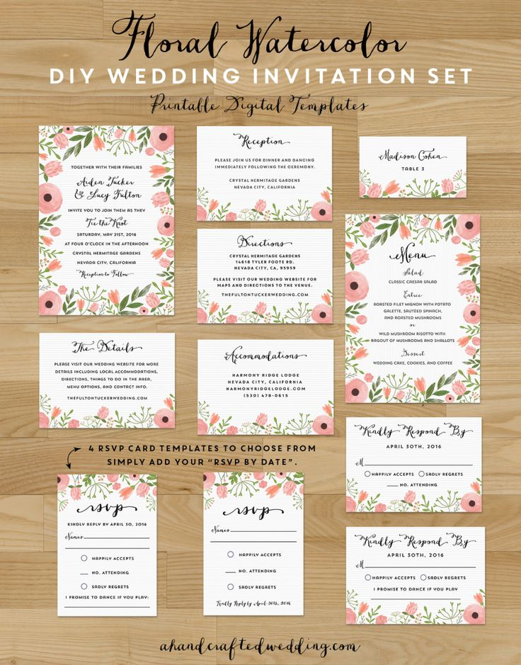 Best 25+ Free printable wedding invitations ideas on Pinterest - free invitation template downloads